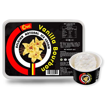 QUCI Belgisch natuurlijk ijs Vanille Bourbon